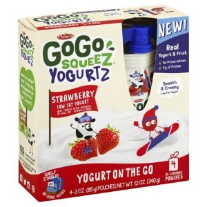 GoGo Squeez Yogurtz Yogurt On The Go Strawberry Low Fat, 3.0 OZ - Walmart.com