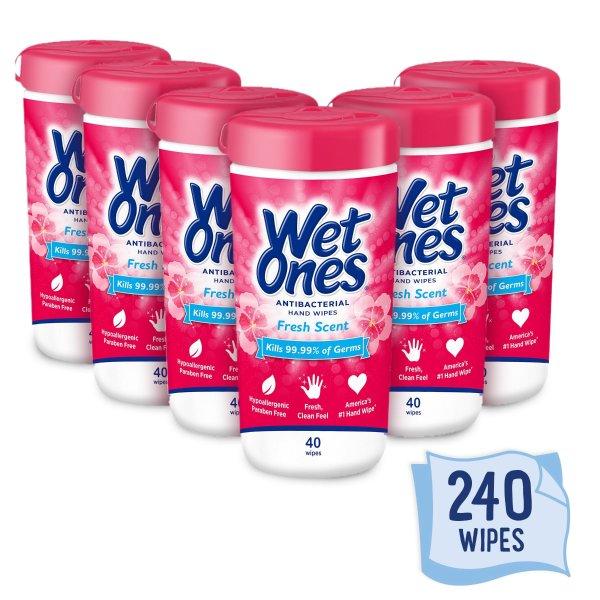 Wet Ones 手部抗菌湿巾 40抽 共6盒