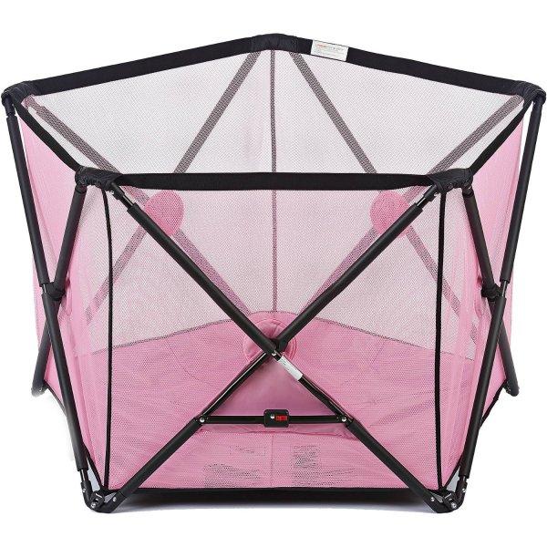 便携式五边形儿童游戏床,粉色