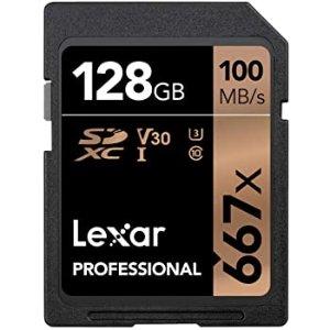 $19.50Lexar Professional 667X 128GB SDXC 存储卡