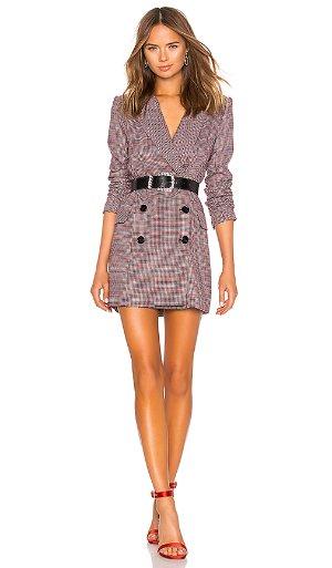 LPA Double Breasted Coat in Khaki & Maroon | REVOLVE