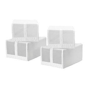 SKUBB Shoe box, white - 8 ¾x13 ½x6 ¼