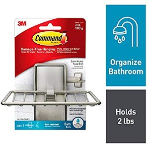 Amazon.com: Command Soap Dish, Satin Nickel, 1-Soap Dish (BATH34-SN-ES): Gateway