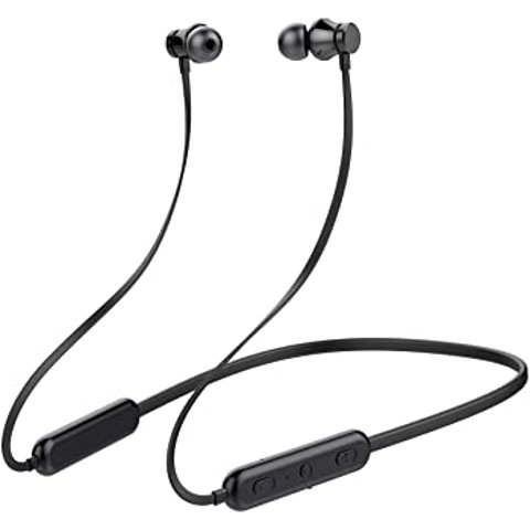 KINGWorld Bluetooth Headphones Neckband 20Hrs Playtime V4.2 Wireless Headset Sport Noise Cancelling Earbuds w/Mic