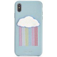 Rainbow Cloud Patch iPhone XS Case