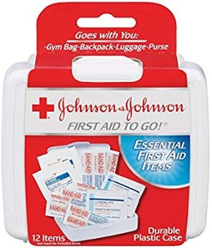 Amazon.com : Johnson & Johnson First Aid To Go Kit (Pack of 12 Items) : Gateway