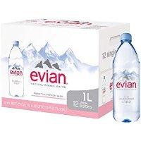 Evian 天然矿泉水 1升装 共12瓶好价回归