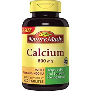 Amazon.com: Nature Made Calcium 600 mg with Vitamin D Tabs, 120 ct: Health & Personal Care