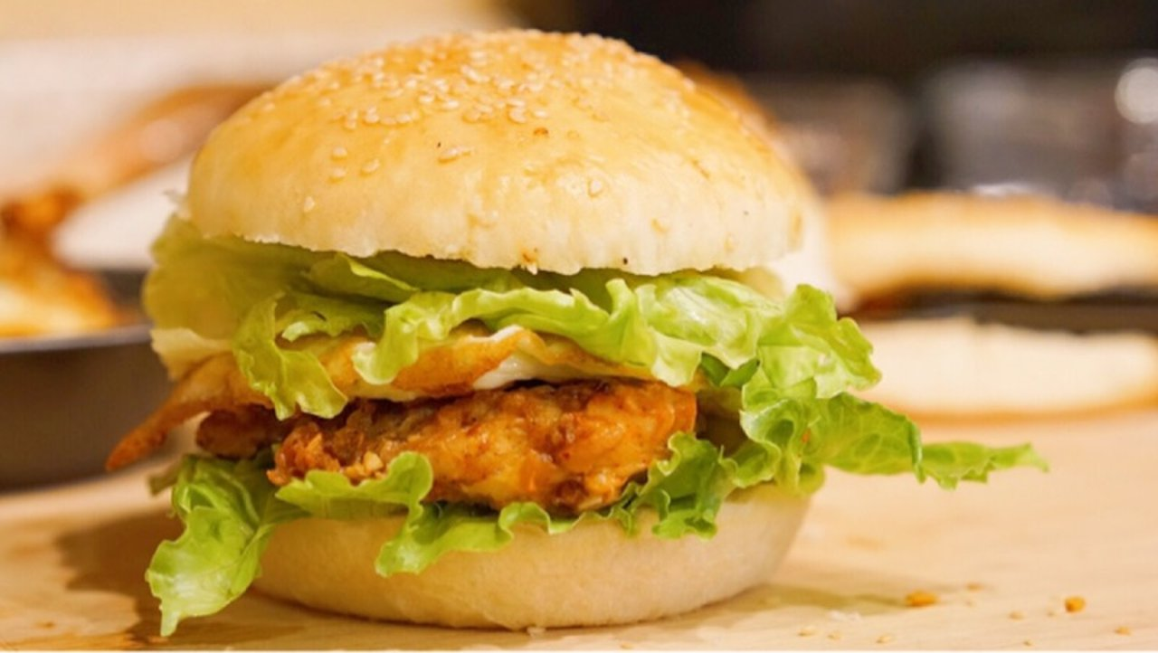 无双鸡腿堡 | 三种形状的汉堡🍔+最美味鲜嫩多汁烤鸡腿