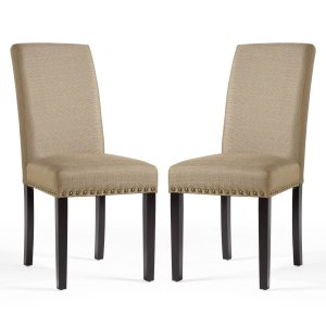 DHI Nice Nail Head Upholstered Dining Chair