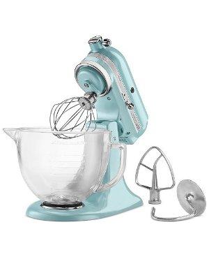 KitchenAid Artisan® Design Series 5 Quart Tilt-Head Stand Mixer with Glass Bowl & Reviews - Small Appliances - Kitchen - Macy's