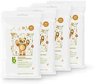 Amazon.com: Babyganics Alcohol-Free Hand Sanitizer Wipes, Mandarin, 20 ct, 4 Pack, Packaging May Vary: Health & Personal Care