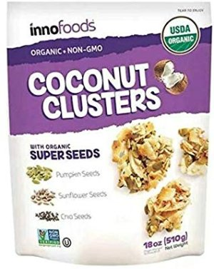 Amazon.com : InnoFoods Coconut Clusters with Organic Super Seeds (Pumpkin; Sunflower & Chia Seeds) (Single Bag - 18 oz.) : Gateway