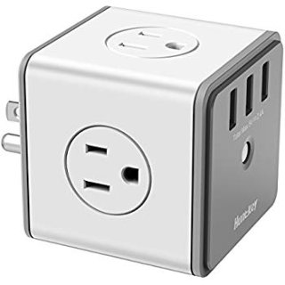 Huntkey Cubic Surge Protector USB Wall Adapter