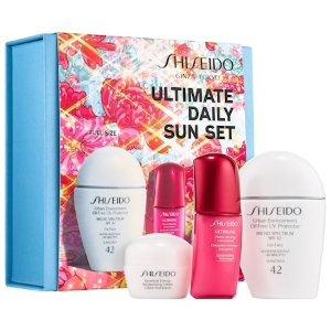 $35 (价值$68)Shiseido 白胖子防晒+红腰子精华套装