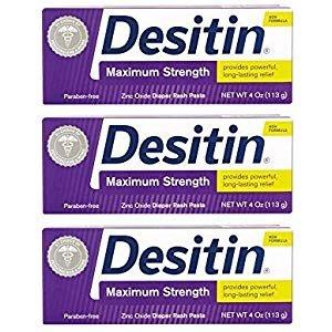Amazon.com: Desitin Maximum Strength Baby Diaper Rash Cream with 40% Zinc Oxide for diaper rash Relief & Prevention, 4 oz: Health & Personal Care