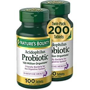 Nature's Bounty Acidophilus Probiotic Twin Pack 200 Tablets