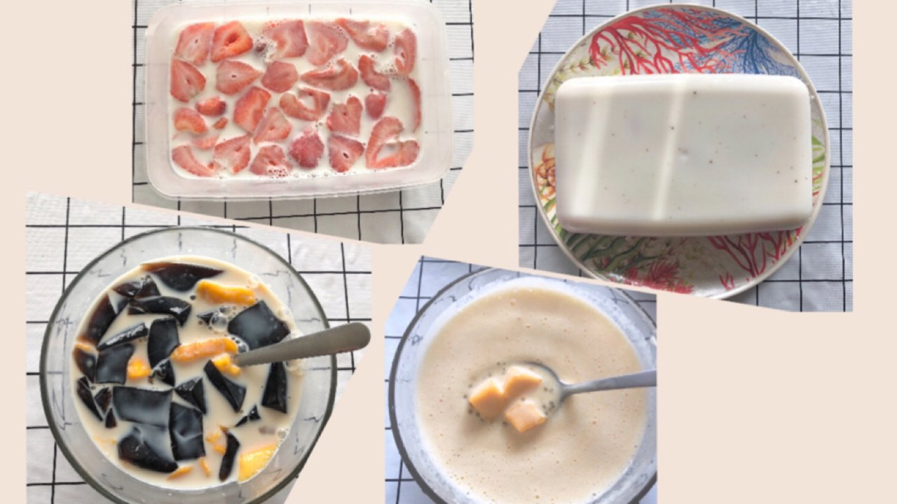 宅家自制甜品奶冻&糖水🍮