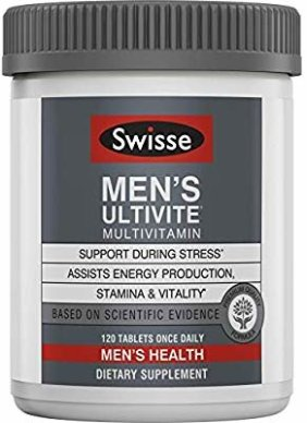 Amazon.com: Swisse Premium Ultivite Daily Multivitamin for Men | Energy & Stress Support, Rich in Antioxidant & Minerals | Vitamin A, Vitamin C, Vitamin D, Biotin, Calcium, Zinc & More | 120 Tablets: Gateway