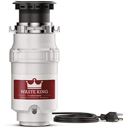 Waste King L-1001 厨房水池垃圾处理器, 1/2 HP