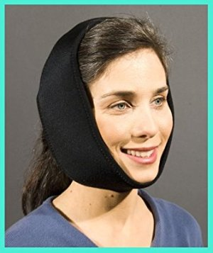 Face Caddy, Hot and Cold Therapy Wraps (BLACK) for TMJ, Migraines, Oral Surgery, Wisdom Teeth, Jaw Pain, Heat Packs, Cold Packs