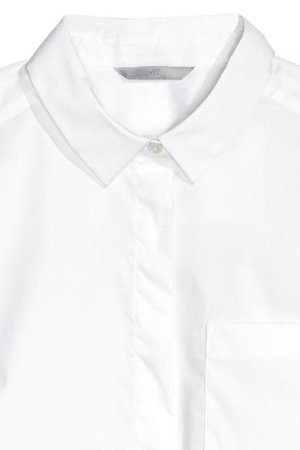 Fitted Shirt - White - Ladies | H&M US