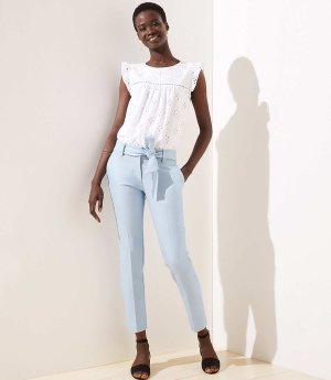 Slim Tie Waist Pencil Pants | LOFT