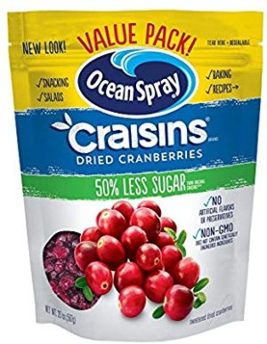 Ocean Spray Craisins Dried Cranberries, Reduced Sugar, 20 Ounce Value Pack: Amazon.com: Gateway