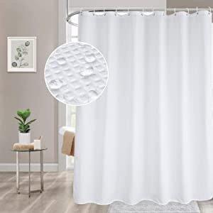 XINSILU Waffle Weave Shower Curtain with 12 Hooks