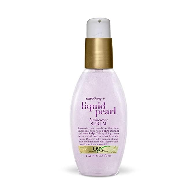 OGX 润发精油Smoothing + Liquid Pearl Luminescent Serum, 3.8 Ounce: Beauty