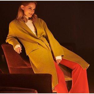 低至3折 Ganni外套$100+THE OUTNET 冬季大衣外套热卖 Maje、Burberry都参加