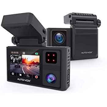 1080P 车内外双摄像夜视行车记录仪