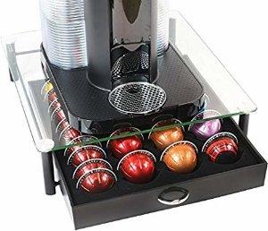 Amazon.com: DecoBros Crystal Tempered Glass Nespresso Vertuoline Storage Drawer Holder for Capsules: Kitchen & Dining
