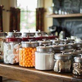 Amazon.com: Anchor Hocking Montana Glass Jar with Fresh Sealed Lid, Brushed Metal, 1.5 Gallon: Kitchen & Dining
