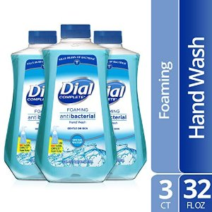Amazon Dial Complete Antibacterial Foaming Hand Soap Refill, 32 Fluid oz (Pack of 3)