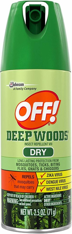 Amazon.com : OFF! Deep Woods Dry Aerosol, 2.5 Ounce : Insect Repelling Products : Garden & Outdoor