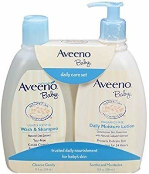 Amazon.com: Aveeno Baby Gentle Moisturizing Daily Care Set, Natural Oat Extract, Natural Colloidal Oatmeal, 2 Items: Gateway