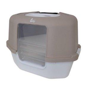 Catit Corner Covered Cat Litter Box