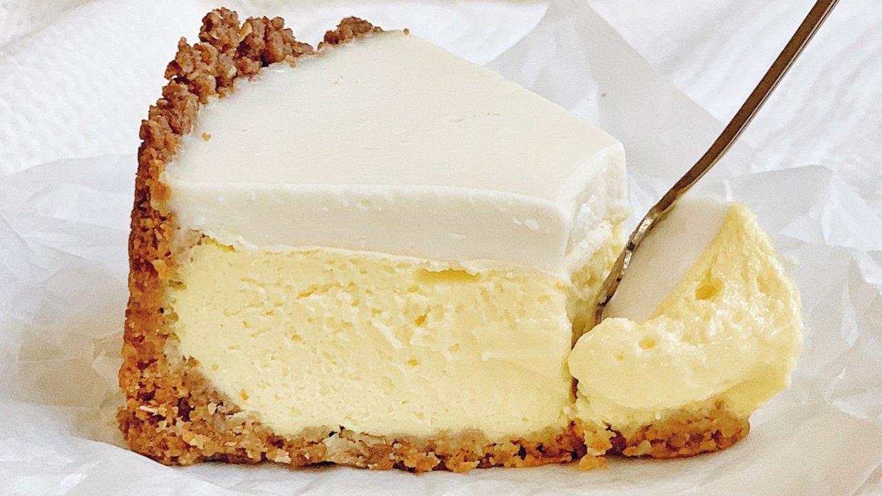 ㊙️🔥慕斯遇上重乳酪‼️好吃到爆双层芝士蛋糕