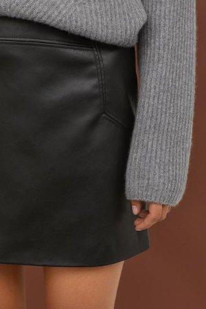 Short Skirt - Black - Ladies | H&M US