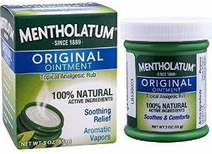 Amazon.com: Mentholatum Original Ointment, 3 ounce (85g) – 100% Natural Active Ingredients for soothing relief: Health & Personal Care
