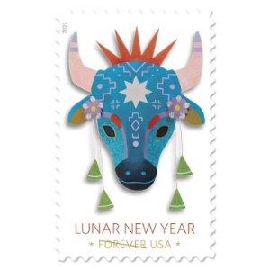 USPS农历牛年纪念邮票小全张