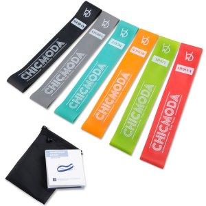 $9.95(原价$29.99)CHICMODA Premium Natural 运动阻力带 6个