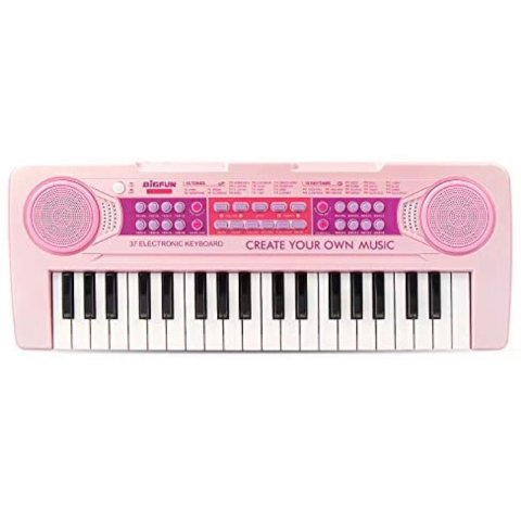 BIGFUN Kids Keyboard Piano 37 Keys Multifunction Rechargeable Electronic Kids Piano Keyboard