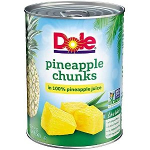 $13.16Dole Fruit Juice 100% Pineapple  20 Ounce Can (Pack of 12)