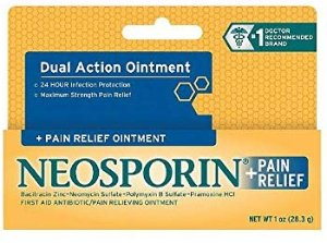 Amazon.com: Neosporin + Maximum-Strength Pain Relief Dual Action Antibiotic Ointment with Bacitracin Zinc, 1 oz: Gateway