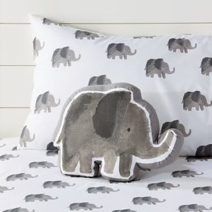 Elephant Wild Excursion Throw Pillow + Reviews | Crate and Barrel