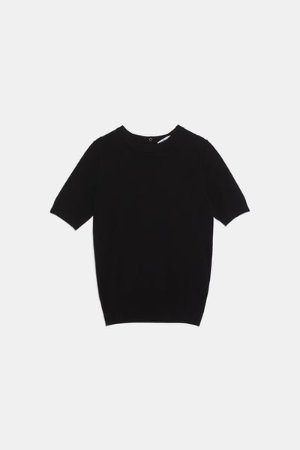 BASIC SHORT SLEEVED SWEATER-Tops-KNITWEAR-WOMAN | ZARA United States