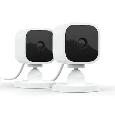 Amazon Blink mini Plug-In Wired Indoor Security Camera (2-Pack)