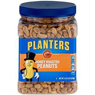 $8.38+ Free ShippingPlanters Dry Honey Roasted Peanuts, 34.5 Ounce, Pack of 2